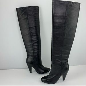 ASH Black Leather Thigh High Intense Heeled Boots